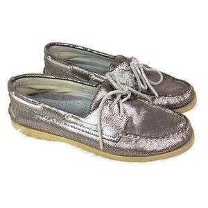 Sperry Top-Sider womens 7.5 metallic snake print